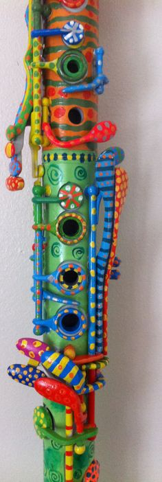 Colorful Painted Clarinet  http://www.etsy.com/listing/95545445/colorful-painted-clarinet?utm_source=Pinterest_medium=PageTools_campaign=Share