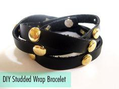 DIY Studded Leather Wrap Bracelet