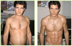 BEFORE and AFTER raw food diet (heavy on the green) Btw, his name is Anthony Anderson and he has a cool blog