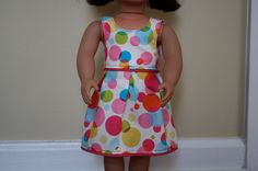 American Girl doll dress tutorial