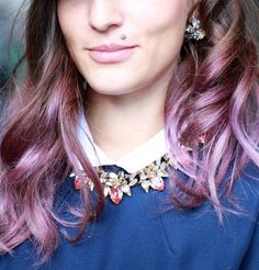 Gorgeous Lavender Hair. I don't know if I'd ever do this, but I love that color!