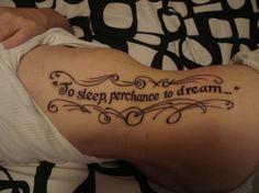 Hamlet, Shakespeare; literary tattoo
