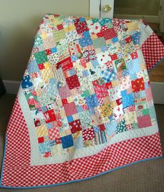 Scraptacular Tutorial Picnic Quilt  It has been a long time since I've posted a tutorial. This one is so easy that I hate to even call it a tutorial but it is such an easy quilt that ANYONE can make this. So here is a great beginner project or for those of us that quilt all the time, it is a scrap buster.