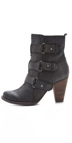 Luxury Rebel Shoes - Regina Buckle Booties