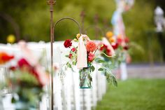Aisle marker for wedding ceremony