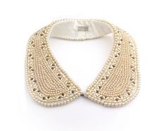 Faux Pearl Collar Necklace 1940s  Miranda Made by ClassiqueStyle, $38.00