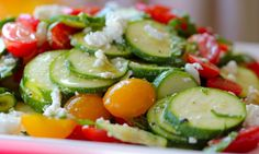 Raw Summer Squash Salad w/ Feta and Tomatoes   Clean & Delicious with Dani Spies