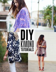 6 DIY kimono tutorials - andreasnotebook.com