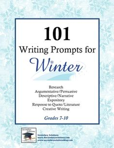 101 Writing Prompts for Winter $