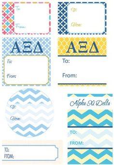 Alpha Xi Delta Gift Tags