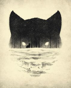 Illustration / Fox and Forest illustration by Dan Burgess