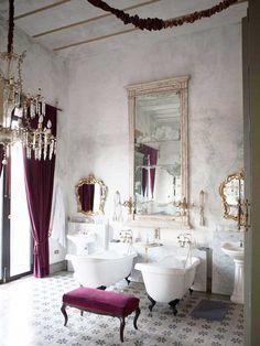 style bathroom at Hacienda Coqui Coqui via Paint + Pattern hacienda ...