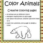 Color Animals - Creative Coloring Pages freebie