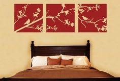 Whimsical Tree Bird Branch Vinyl Wall Art Mural Decal by Katazoom, $39.99