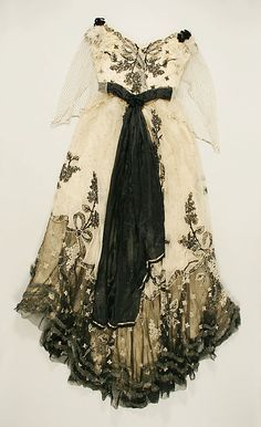 Dress by Jeanne Paquin, c. 1897, at the Met