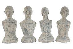"""14"""" Gray Mannequins, Asst. of 4 on OneKingsLane.com"""
