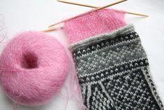 Lining mittens with kidsilk haze
