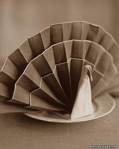 Fold A Napkin Turkey