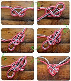 heart knot, celtic heart, idea, diy heart, craft, knots, celtic knot, knot necklac, necklaces