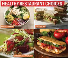 Make healthy choices at your favorite restaurant. Choose lighter proteins such as white fish and grilled chicken. Hold the mayo on any sandwich and opt for a side of fruit or greens in lieu of French Fries. #SelfMagazine