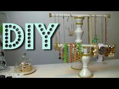 DIY Jewelry Holder | Necklace & Bracelet by BeautySplurge and how to decorate your holder tutorial!