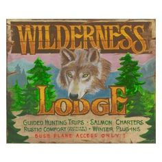 Wilderness Vintage Lodge Sign - Personalized | Custom Cabin Signs | Antlers Etc - Rustic Cabin, Lodge & Hunting Decor