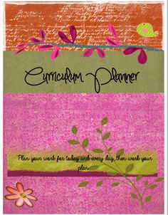 Homeschool Planner Printables-- Lovely Planner Cover Pages