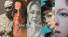 "Eleanor Adam, Liz Adams-Jones, Janet A. Cook, Leah Lopez, and Orly Shiv. ""She Depicting Her"" Group show at Alex Adam Gallery, Oct 9-25, 2014."