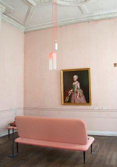 pastel pink walls