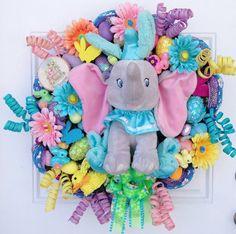 Dumbo Easter Disney Wreath by SparkleForYourCastle on Etsy, $169.00