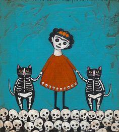 Cats, skulls, and Frida Kahlo