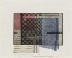 "Faus  Robert Rauschenberg (American, 1925–2008)    1984. Photoetching and lithograph, composition (irreg.): 10 1/16 x 12 1/16"" (25.5 x 30.6cm); sheet: 13 3/4 x 17 1/16"" (34.9 x 43.3cm). Gift of Emily Landau. © 2013 Robert Rauschenberg Foundation/Licensed by VAGA, New York, NY"