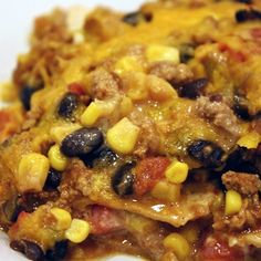 Skinny Mexican Tortilla Casserole