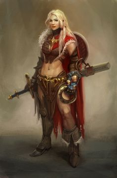 Freyja- goddess of fertility, passion, battle and magic.  Captain of the Valkyrie.  Master of the art of Seidr, which she taught to Odin.