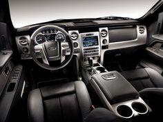 Ford F-150 black interior