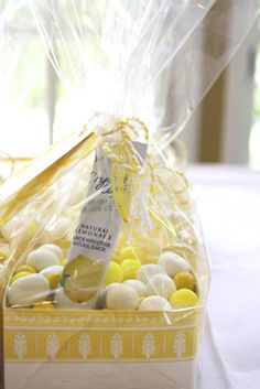 """""""When life gives you lemons"""" party favors, complete with lemonade packets (of course!) #LetCelebrate"""