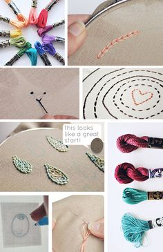 Embroidery Basics. Great tutorials and easy to follow directions! Perfect for the ones you don't do often enough to remember exactly how they go.