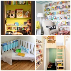 Childrens bedroom | Play Loft | Bookcases