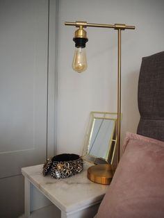 gold hays style lamp