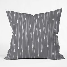 Heather Dutton Gray Entangled Throw Pillow 18 x 18 Sample Sale | DENY Designs Home Accessories