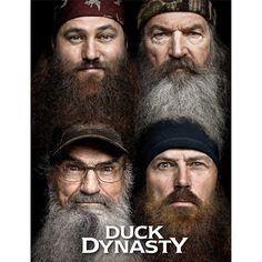 """Duck Dynasty 46"""" x 60"""" """"Four Faces"""" Polar Fleece Throw #duckdynasty"""