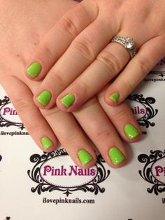 Lime Green Soft Gel Nails