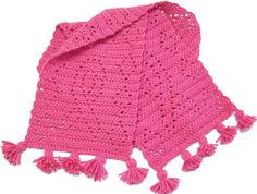 Free crochet pattern for breast cancer awareness ribbon scarf.