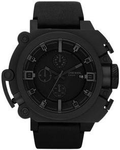 black on black diesel watch