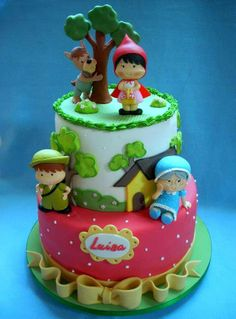 bolo decorado, red riding hood, ride hood, hood cake
