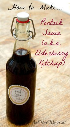 How to Make Pontack Sauce  | And Here We Are... #foraging #elderberries #english #sauce #ketchup