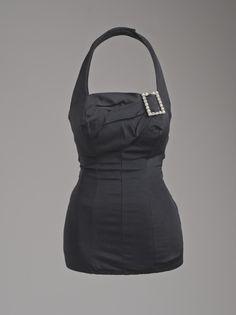 "Bathing Suit, ""Masterpiece,"" Catalina Sportswear (United States, California, Los Angeles, 1907-1993): ca. 1955, American, Acetate Lastex plain-weave (faille) with rhinestones."