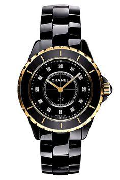 Chanel watch - black/gold