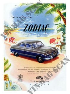 Ford Zephyr Zodiac, Car Advert, 1950s