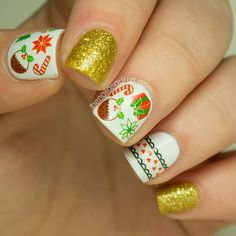 The Nailasaurus | UK Nail Art Blog: DIY Nails Christmas Water Decals Nail Art